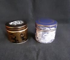 Hollóházi porcelán tégelyek (Szász Endre)