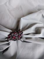 Almandin köves ezüst gyűrű