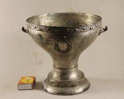 Jelzett ezüstözött szecessziós kaspó 163