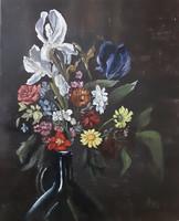 Antyipina Galina: Replika 18. Század mestereinek, olajfestmény, vászon. 30x25cm