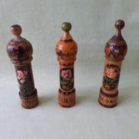 Retró! Bolgár parfüm, rózsaolaj, rózsaolaj fatartó ( 3 db)