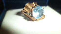 Art deco arany gyűrű