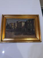 Utcarészlet festmény
