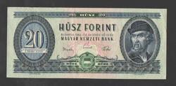 20 forint 1962.  VF+!!  Aránylag, alacsony sorszám!!  GYÖNYÖRŰ!!   RITKA!!