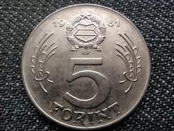 Népköztársaság (1949-1989) 5 Forint 1981 BP (id38036)