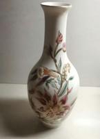 Kézzel festett Zsolnay porcelán váza új állapotban