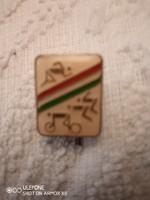 Magyar Triatlon jelvény kitűző 1970 előtti
