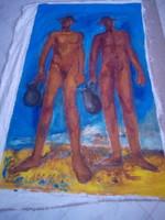 BAKÁNYI GYULA FESTMÉNY 180 x 100 cm