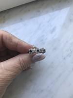 Nagyon szép zafír cirkón köves ezüst gyűrű