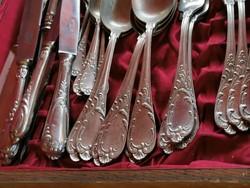 Antik 6 személyes evőeszköz készlet Wellner