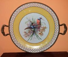 Gyönyörű Kolibri Madaras Kézzel festett Bavaria Porcelán Tál