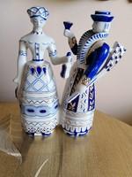 Ritka Hollóházi porcelán 2 figurás szobor