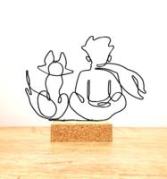 A kis herceg és a róka barátsága - drótból készített kézműves lakberendezési tárgy