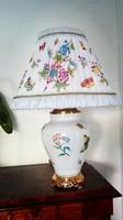 Ó Herendi porcelán Victoria mintás asztali lámpa - egyedi darab