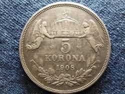 Ferenc József (1848-1916) .900 ezüst 5 Korona 1908 KB (id49372)
