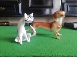 Hollóházi cica és kutya egyben