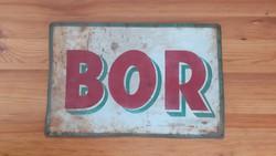 Festett vaslemez tábla, 1930-as évek