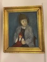 Ferenczy Károly barna sapkás kisfiú !