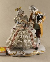 Német porcelán barokk pár 184