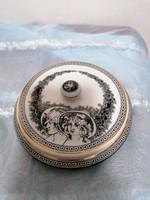 Hollóházi Szász Endre porcelán bonbonier