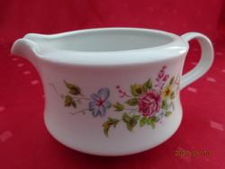 Alföldi porcelán, tavaszi virágmintás tejkiöntő, felső átmérője 9,3 cm.
