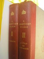 Természet világa 1939 -es Királyi Magyar társulat kiadása 2 kötet ritkaság légkör,föld,tenger792 old