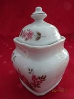 Winterling Bavaria német porcelán cukortartó, rózsaszín virágos, magassága 10,5 cm.