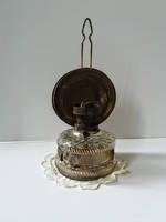 Petróleum lámpa, ép üveg tartályos