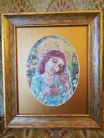 Zsóri Balogh Erzsébet gyönyörű tűzzománc kép