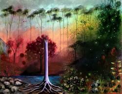 Álom és valóság - akrilfestmény