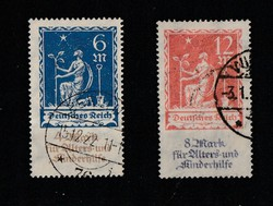 DEUTCHES REICH 1922 Charity stamps teljes sor