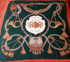 Francia selyem kendő 'Vadász' nagy méretű