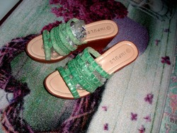 Impuls 37-es zöld utcai kényelmes papucs