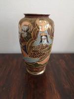 Japán Satsuma porcelán váza