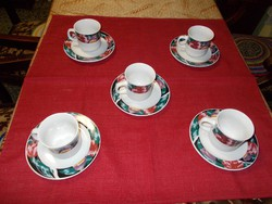 Gyönyörű színvilágú étkészlet,teás csészékkel.