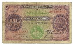 10 centavos 1914 Mozambik 1.
