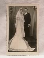 Régi fotó , képeslap , fiatal pár 1941