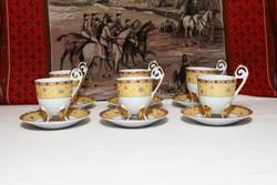 King Cheng japán porcelán kávés készlet