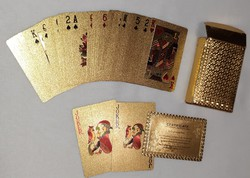 Póker műanyag kártya-arany színű