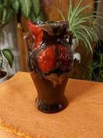 Zsolnay eozin szecessziós több tűzű meseszép váza!