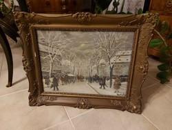 Berkes Antal Andrássy út télen ragyogó festmény!