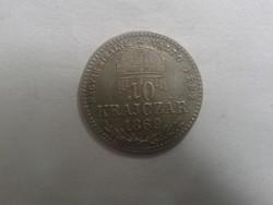 Ferenc József 10 krajcár 1869 kb