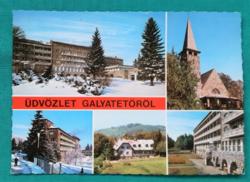 Magyarország,Galyatető,mozaik,használt  képeslap 1978