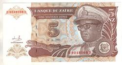 5 új zaires 1993 Zaire UNC