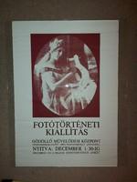 Fotótörténeti kiállítás plakát, méret jelezve!