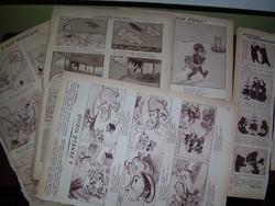 Antik képregények régi újságokból cca 1920-1938-ból