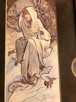 """Alfons Mucha a szecesszió koronázatlan királya (1860-1939) múzeumi litográfia """"Hiver"""""""