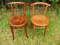 2 db antik, jelzett eredeti, egyforma ritka Thonet szék párban eladó nagyon stabil állapotban