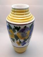 Hollóházi Riolit váza 19 cm