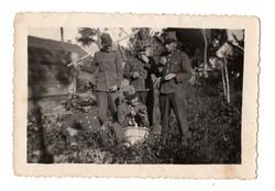 Csendőr csoportkép 9x6 cm